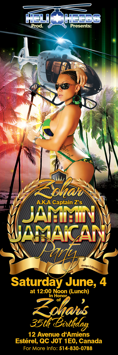 Jammin Jamaican Birthday Party Flyer Design by Design@DJEmir