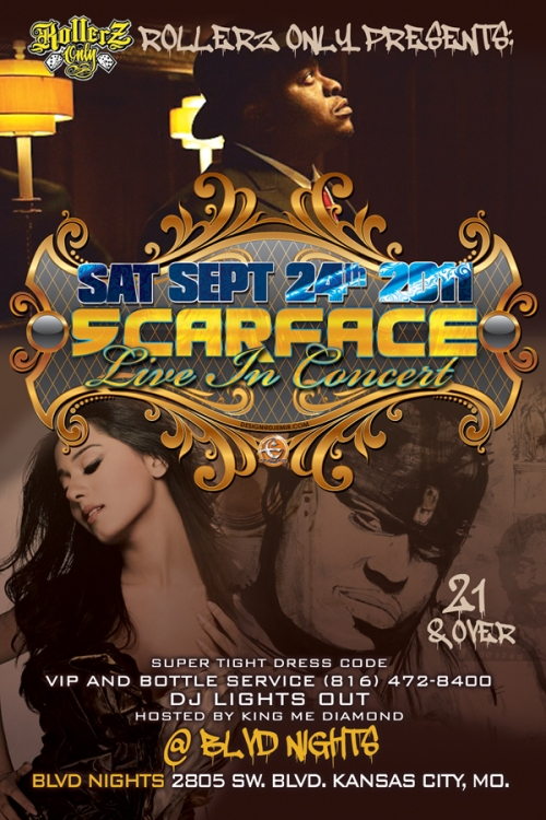 Scarface Concert Poster and Flyer Design Kansas City MO