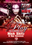 Fitzroy Hotel 4Play Friday Party Flyer with Nick Skitz and Spy Saxxman