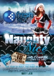 Naughty Or Nice Christmas Party Flyer Design HQ Complex Australia