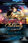Friday Night Swag Flyer design Back Club vanity Tacoma Washington