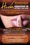 Hush Thanksgiving Eve Teen Party Flyer Design Circolo Lounge San Francisco