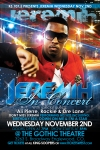 Flyer Design for KS1075 Jeremih Concert at Gothic Theater Denver Colorado