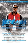 Flyer Design Side 2 for KS1075 Jeremih Concert at Gothic Theater Denver Colorado