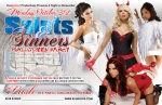 Flyer Design for Saints and Sinners Halloween Party at Lush Lounge Long Beach California