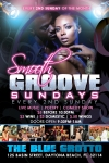 Flyer Design for Smooth Groove Sundays South Beach Florida