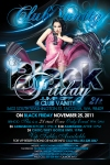 Flyer Design Back for Black Friday Jump Off at Club Vanity Tacoma Washington