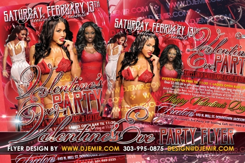 Amazing Valentine's Day Eve Party Flyer Design